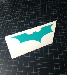 batman wing turquoise