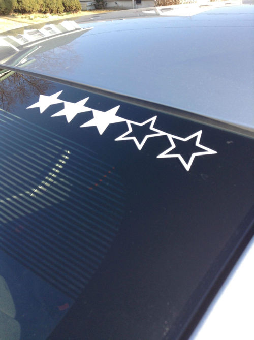 Grand theft auto wanted level stars sticker customizable