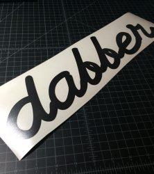dabber banner black