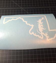 Maryland outline white