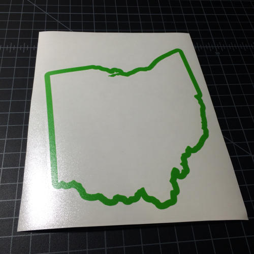 Oh Ohio Outline State Sticker Shays Sticker Shop