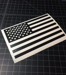 usa flag black