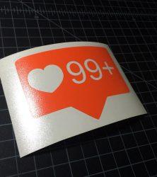 99 instagram likes orange