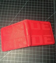bride wallet outside red