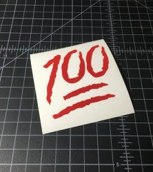 100 red