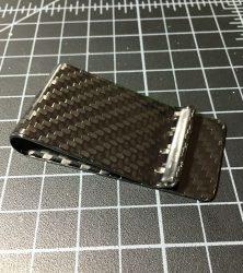 carbon fiber money clip polished