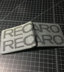 recaro wallet black gray open