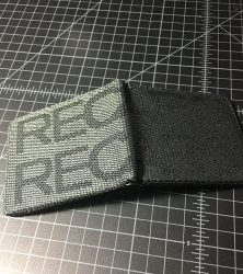 recaro wallet black open