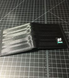 takata black wallet open